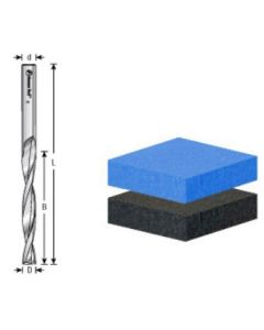 Solid Carbide Spiral Router Bits for Foam Cutting, Flat Bottom, Up-Cut