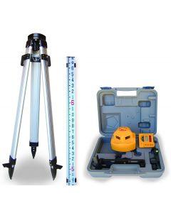 PLS360 Kit, 360-degree Self-Leveling Laser Level with Detector, Tripod & Grade Rod