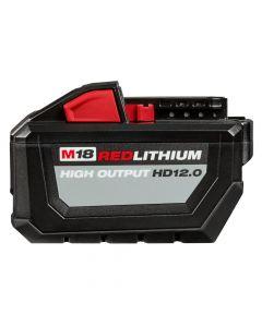 Milwaukee 48-11-1812 M18 18V Redlithium High Output Battery Pack, 12.0Ah Batteries