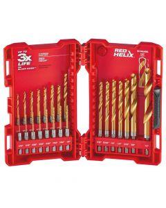 Milwaukee 48-89-4631 Shockwave Red Helix Titanium Drill Bit Set, 23 Piece
