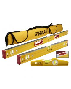 Stabila 48380 Magnetic Level Set with Case, 3 Piece