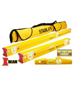 Stabila 48410 R-Beam Levels Set with Case, 3 Piece