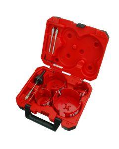 Milwaukee 49-56-9080 8 Pc Plumbers Big Hawg® Hole Cutter Kit