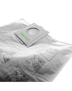Festool 496186 Selfclean Filter Bag for CT 36 Dust Extractor, 5 Piece