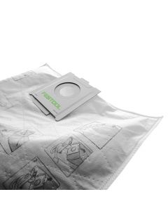 Festool 497539 Self-Cleaning Filter Bag for CT 48 Dust Extractor, 5 Piece