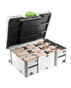 Festool 498204 Domino XL Beech Wood Tenon Assortment Systainer, 310 Piece