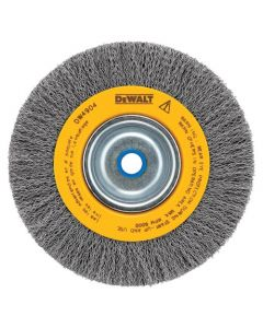 "DeWalt DW4904 6"" Crimped Bench Wire Wheel, 5/8""-1/2"" Arbor, Medium Face, .014"" wire"