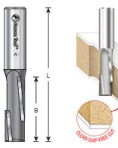 Opposite Shear Staggered Shear Tooth Plunge Router Bits