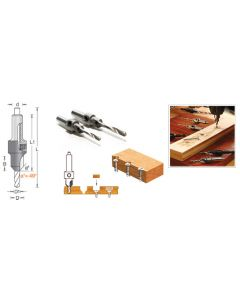 Carbide-Tipped Countersinks for Wood Screws