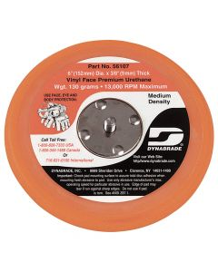 "Dynabrade 56107 6"" Vinyl-Face Non-Vacuum Sanding Disc Pad"