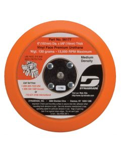 "Dynabrade 56177 6"" Vinyl-Face Non-Vacuum Sanding Disc Pad"