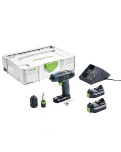 Festool 564513 10.8V Lithium-Ion TXS Cordless Drill, 2.6Ah Batteries