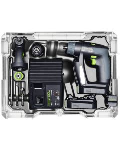 Festool 564535 CXS 10.8V Lithium-Ion Cordless Compact Drill Set, 2.6Ah Batteries