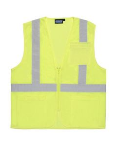 S363P ANSI Cl.2 Lime Vest Zip w/Pckt XL