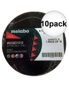 Metabo 655832010 4-1/2'' x .40 x 7/8'' Type 1 Slicer, 10 Pack