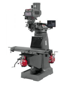 JET 691203 JTM-4VS Milling Machine with Newall DP700 3-Axis DRO & X & Y-Axis Powerfeeds (Quill)