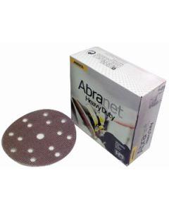 """Mirka HD-611-025-60 Abranet 6"""" 60 Grit 15-Hole Heavy Duty Mesh Disc, 25 Pack"""