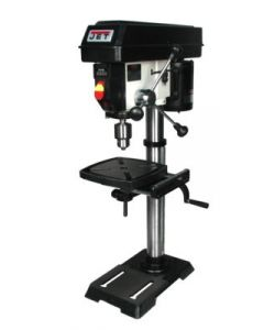Jet 716000 Benchtop Drill Press, 115 VAC, 5 A, 1 Phase, 1/2 HP, Cast Iron Base, 530 - 3100 RPM