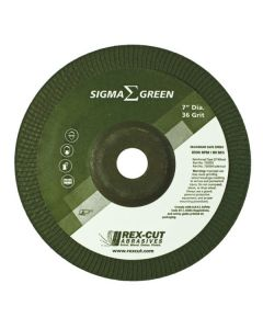 "4-1/2"" x 3/16"" x 7/8"" 36G SIGMA Green Stainless Grinding Wheel"