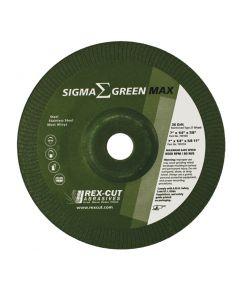 "7"" x 1/4"" x 5/8-11 36G SIGMA Green Stainless Grinding Wheel"
