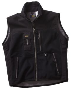 Two-Fisted Fleece Vest - Black M