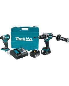 Makita XT268T 18V LXT® Lithium‑Ion Brushless Cordless 2‑Pc. Combo Kit (5.0Ah)