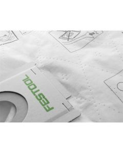 Festool 496186 SELFCLEAN Filter Bags for the CT36 Dust Extractor, 5/Box