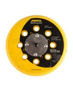 "Mirka 915GV28 5"" Abranet Grip Faced Vacuum Backup Pad, 5/16-24"