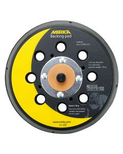 "Mirka 915GV28 Abranet 5"" 130 Grit Multi‐Hole Grip‐Faced Backing Pad"