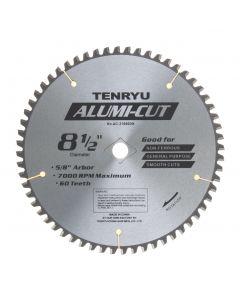 Tenryu AC21660DN Alumi-Cut Saw Non-Ferrous Blade, 5/8 inch Bore x 8-1/2 inch Dia, 60 Teeth, Aluminium