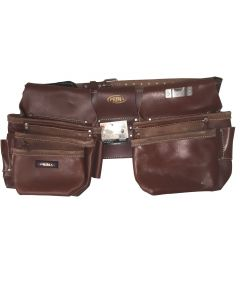 Prima AM36901 15 Pocket Professional Tool Pouch Set, Brown