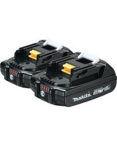 Makita BL1820B-2 18V 2.0Ah Compact Lithium-Ion Battery, 2/Pack