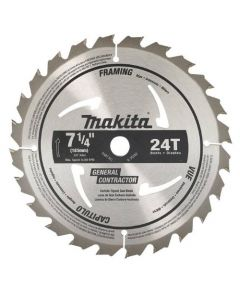 "Makita D-45989-10 7-1/4"" 24T General Contractor Circular Saw Blades, 10-Pack"