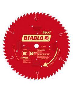 """Freud Diablo D1060X 10"""" 60T ATB Thin Kerf Fine Finishing Circular Saw Blade"""