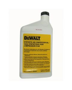 DeWalt D55001 Non-Detergent Air Compressor Oil, 1 qt, Synthetic