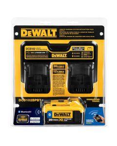 DeWalt DCB102BPBT 12V / 20V MAX 2-Bay Charger with 20V MAX Battery Pack