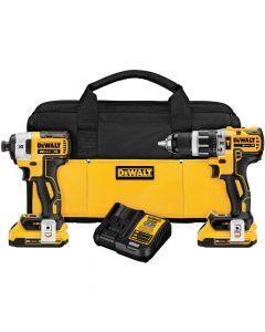 DeWalt DCK287D2 20V MAX BL Brushless Hammer Drill/Impact Driver Cordless Combo Kit