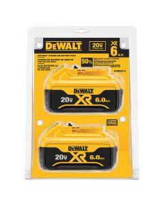 DeWalt DCB206-2 20V MAX 6.0 Ah Battery, 2/Pack
