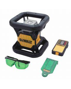 DeWalt DW079LG 20V Green-Beam Self-Leveling Rotary Laser Kit, 250 ft