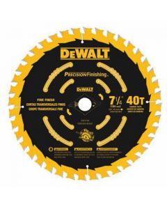 """DeWalt DW3194 7-1/4"""" 40T ATB Precision Finishing Circular Saw Blade"""
