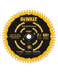 """DeWalt DW3196 7-1/4"""" 60T ATB Precision Finishing Circular Saw Blade"""