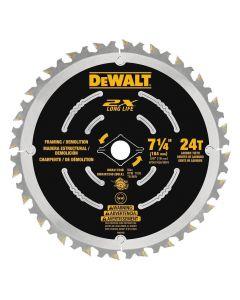"""DeWalt DWA31724D 7-1/4"""" 24T ATB 2X DEMO Circular Saw Blade"""