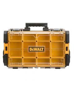 DeWalt Toughsystem® DWST08202 DS100 Organizer Case, 13-1/8 x 21-5/8 x 4-1/2, Black with Clear Lid
