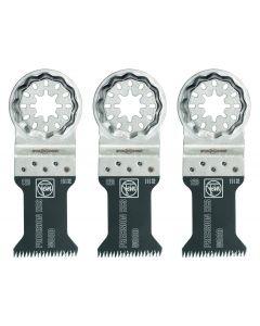 "Fein 63502126270 1-3/8"" Oscillating Precision E-Cut 126 Saw Blade, StarLock, 3/Pack"