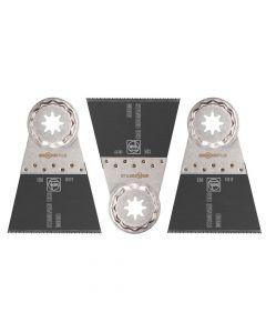 "Fein 63502134270 2-9/16"" E-Cut Standard 134 Saw Blade, StarLockPlus, 3/Pack"