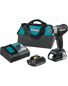 "Makita XWT12RB 18V Sub‑Compact Brushless 3/8"" Impact Wrench Kit"