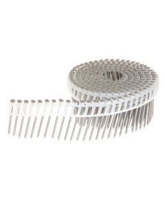 "Grip-Rite PrimeGuard MAX MAXC62838 2-3/16"" Ring-Shank 15 Deg Plastic Collated Coil Siding Nails, 304 Stainless Steel"