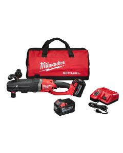 Milwaukee 2711-22HD M18 FUEL Super Hawg Right Angle Drill w/ QUIK-LOK Kit, 9.0 Ah