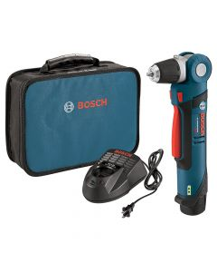 "Bosch PS11-102 12V Max Lithium-Ion 3/8"" Right Angle Drill/Driver Kit, 2.0Ah Batteries"
