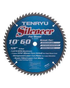 """Tenryu SL-25560 10"""" 60T ATAF Silencer Circular Saw Blade"""